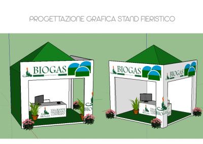 Biogas fiera stand 3D