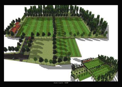 Ricostruzione 3D dell'Impianto sportivo