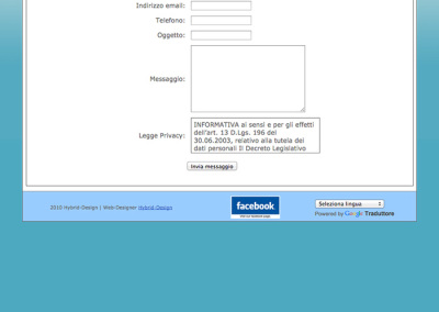 La pagina contatti