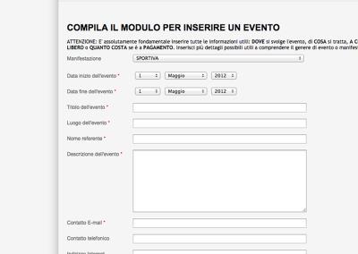 Registrazione evento
