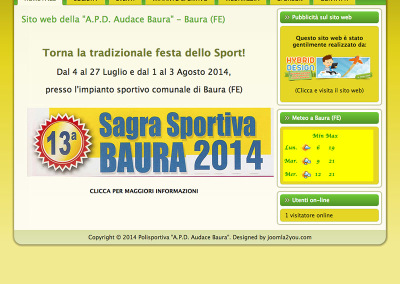 Home-page Polisportiva