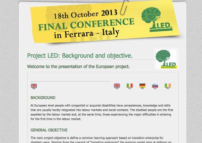 Home-page del sito