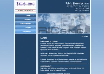 Una pagina di Tea Eletric