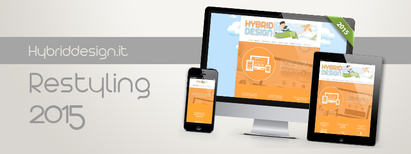 Presentazione del restyling web di Hybriddesign.it