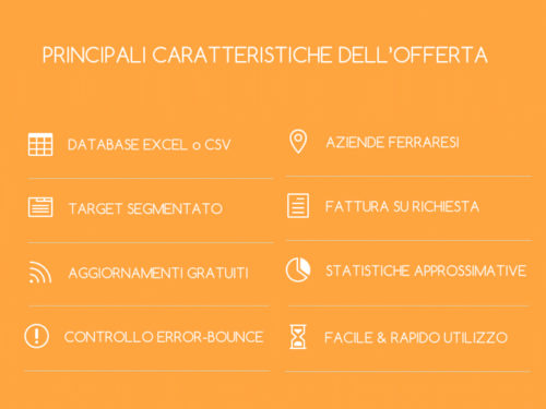 Email di Aziende Ferraresi - Database in Excel