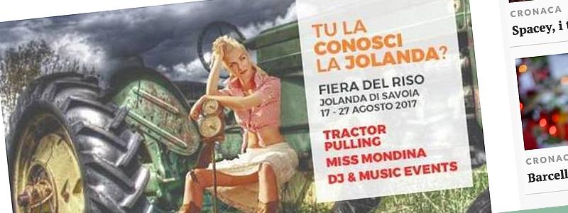 Tu la conosci la Jolanda? La pubblicità definita sessista è sbagliata per altri aspetti!