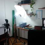Studio fotografico con impianto luci